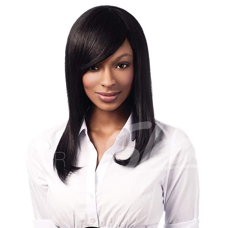 sleek human hair gabrielle wig